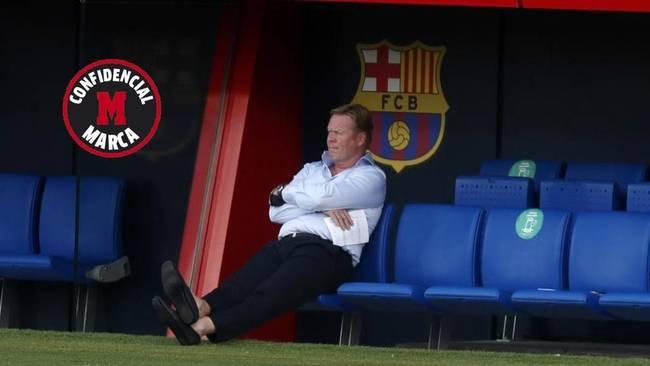 Koeman, en el banquillo del Barcelona