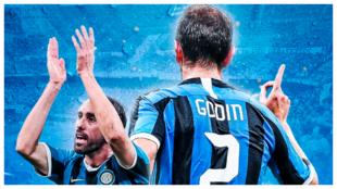 Godín con la camiseta del Inter de Milán