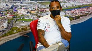 Lewis Hamilton, en Sochi.