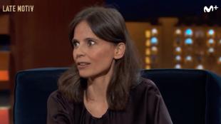 Elena Anaya promocionando Rifkin's Festival de Woody Allen en Late...