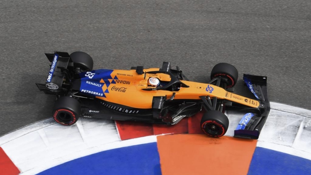 Carlos Sainz en Sochi.