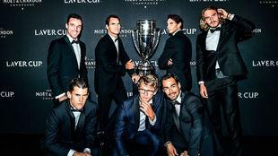 El equipo europeo de la Laver Cup que ganó el año pasado en Ginebra