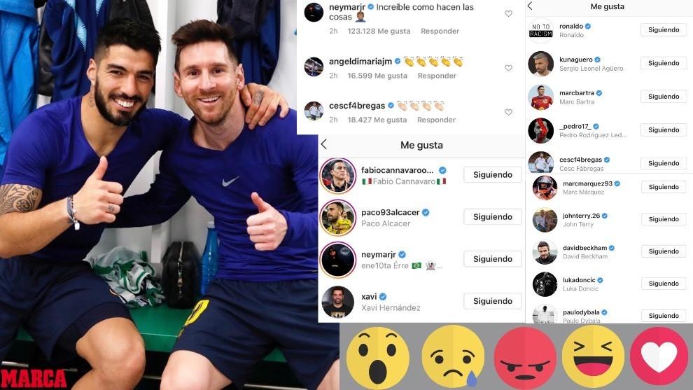 Les curieux likes et réponses à la publication Instagram de Messi