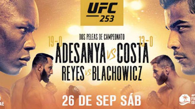 Adesanya vs Costa: cartelera, horarios y dónde ver en tv la gala de UFC Fight Island