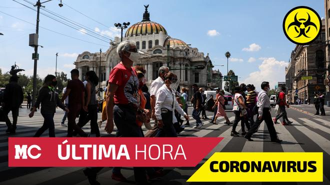Casos confirmados de coronavirus y muertes por Covid-19 en México.