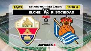 Elche - Real Sociedad: horario y donde ver por television hoy el...