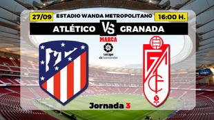 Atlético de Madrid - Granada: horario y donde ver por television el...