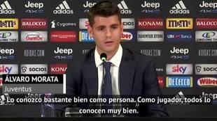 Morata desvela la primera frase que le dijo Cristiano Ronaldo tras dejar el Atlético