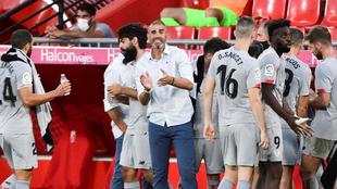 El entrenador del Athletic de Bilbao Gaizka Garitano en el partido...