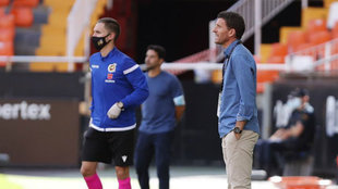 Javi Gracia en el partido ante el Huesca.