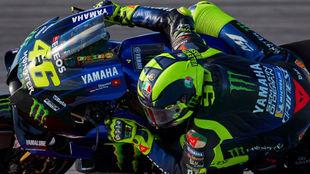 Rossi, durante la calificación del Gran Premio de Catalunya.