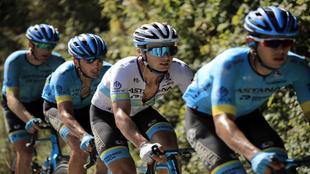 Alexei Lutsenko durante el último Tour de Francia