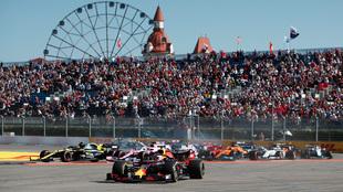 El Autódromo de Sochi contó con la presencia de público.