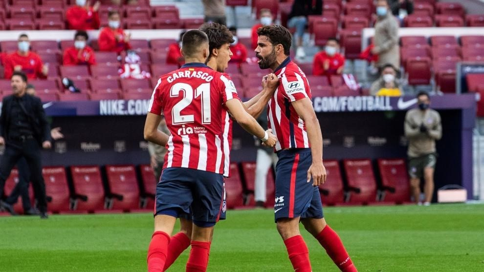 Diego Costa, Joao Felix and Carrasco.