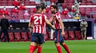 Costa celebra el gol al Granada.