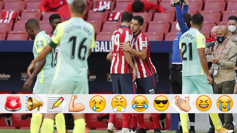 Costa deja su puesto a Luis Suárez.