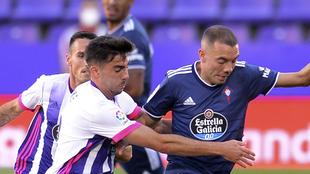 Iago Aspas en en duelo del Celta ante Valladolid.