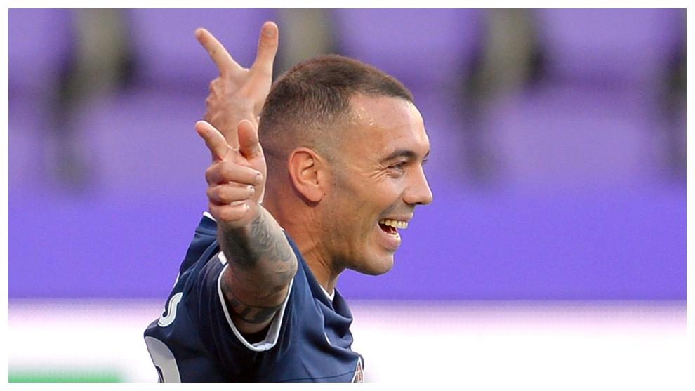 Iago Aspas célèbre un but contre Valladolid