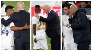 Zidane con Rodrygo, Vinicius y Jovic
