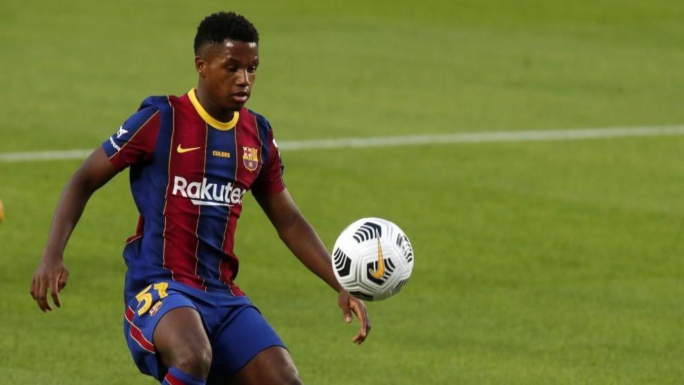 Ansu Fati en el partido contra el Villarreal