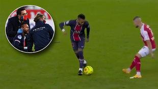 El regate nunca visto de Neymar y la posterior reacción del rival: codazo por el 'burreo'