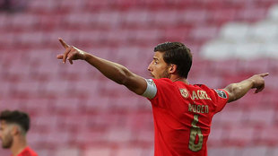 Ruben Dias, en un partido del Benfica.