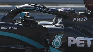 Lewis Hamilton, durante el GP de Rusia 2020.