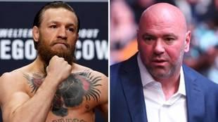 McGregor y Dana White chocan en declaraciones