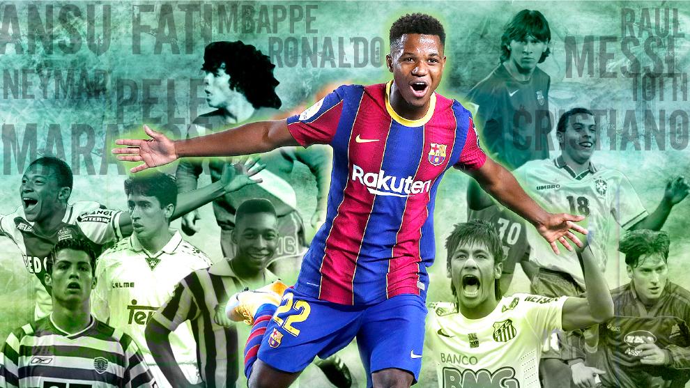 Ansu Fati et le football sont les meilleurs avant l'âge de 18 ans