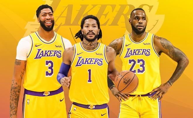 Montaje con Anthony Davis, Derrick Rose y LeBron James