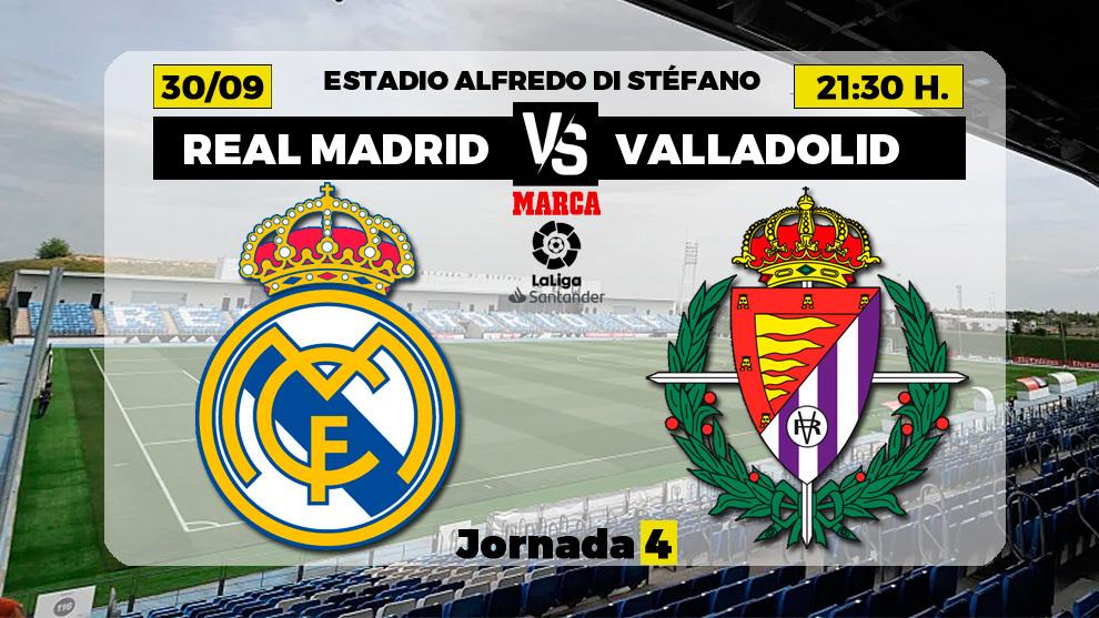 Real Madrid - Valladolid: horario y donde ver en TV el partido de la...