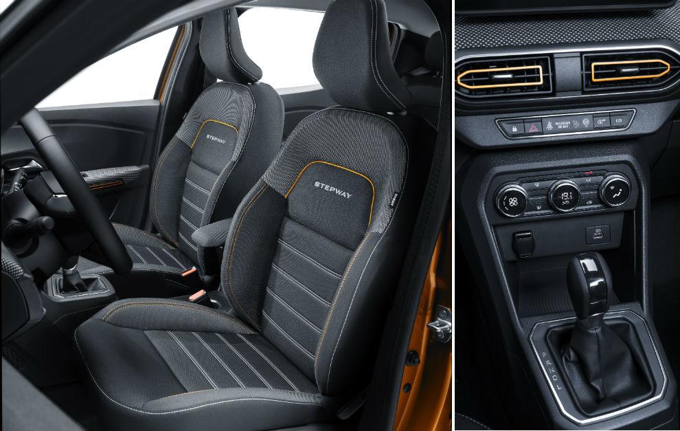 El interior del Dacia Sandero Stepway.