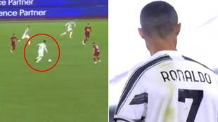 El pase de Morata a la valla de publicidad y la reacción increíble de Cristiano