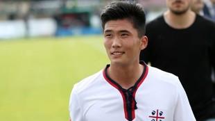 Han Kwang-Song, jugador norcoreano del Al-Duhail.