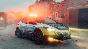 El Re-Leaf ha sido equipado con suspensiones elevadas y neumáticos de...