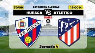 Huesca - Atletico de Madrid: horario y donde ver por Television el...