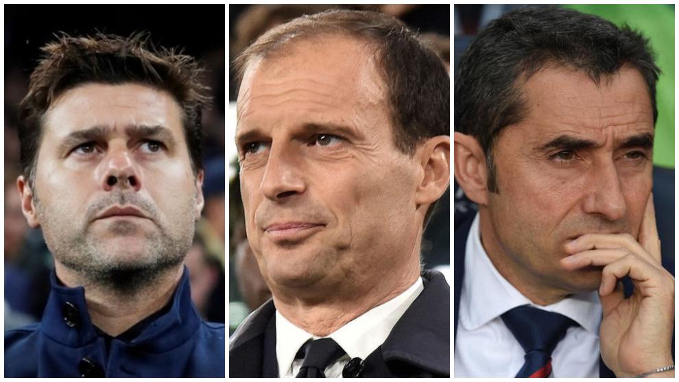 Pochettino, Allegri y Valverde entrenadores sin equipo