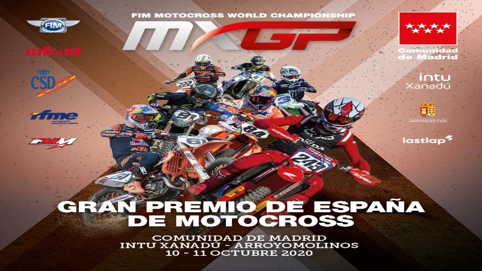 Cartel del Gran Premio de España de Motocross.