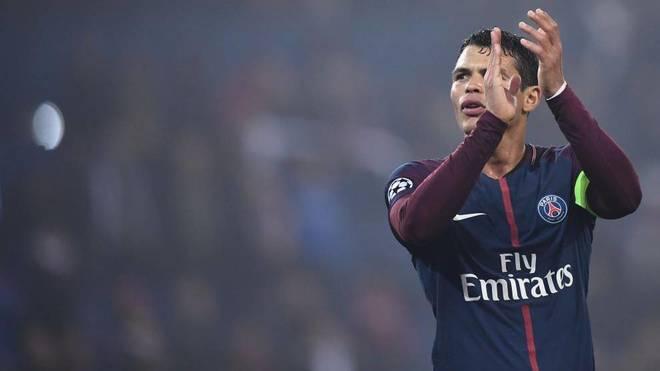 Thiago Silva, en su etapa en el PSG.