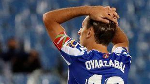 Oyarzabal, en el partido contra el Real Madrid en Anoeta.