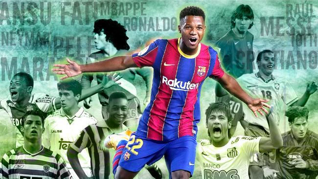 ¿Es Ansu Fati mejor que los cracks de la historia del fútbol antes de los 18 años?
