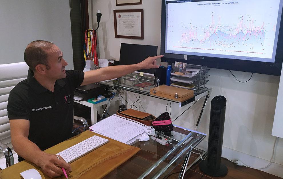 Training Peaks y WKO permiten ver gráficamente la evolución del ciclista profesional o aficionado.