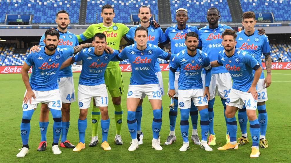 El XI del Napoli en el juego ante el Genoa