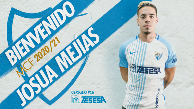 Josua Mejías completa la defensa del Málaga para este curso