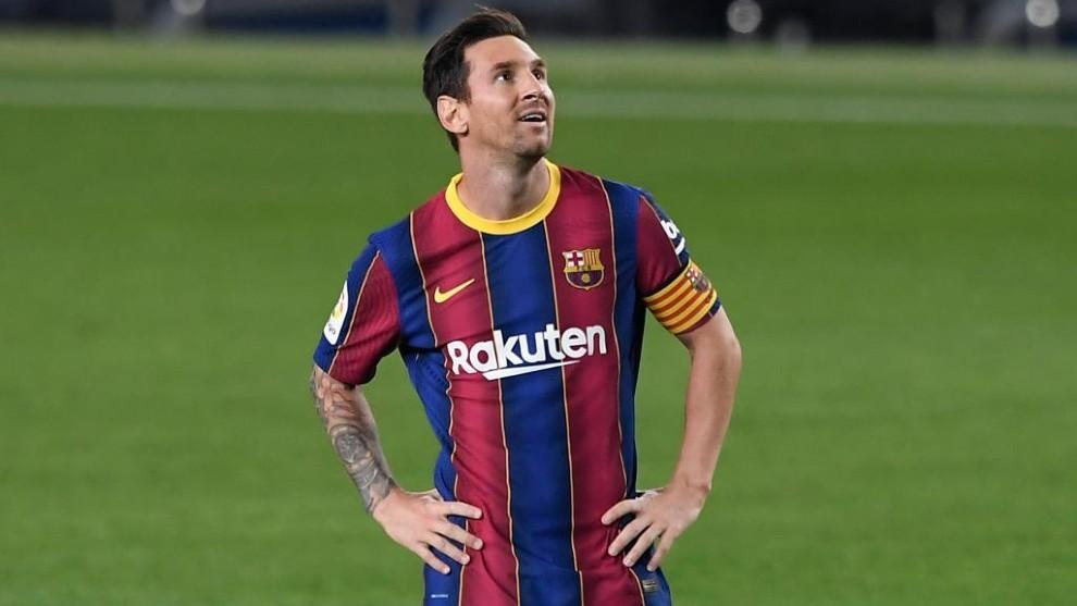 Leo Messi, en un partido con el Barça.