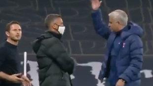 Enganchón entre Mourinho y Lampard: se dijeron de todo y sus gestos darán que hablar...