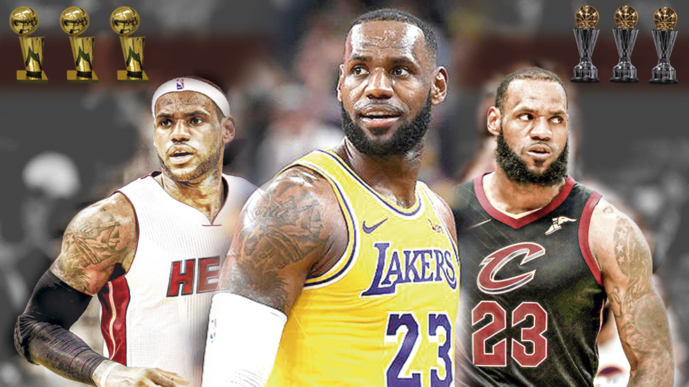 LeBron fue campeón y MVP de las Finales con Miami y Cleveland, ¿lo...