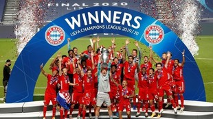 El Bayern, levantando el trofeo de la Chmpions en Lisboa el pasado 28...