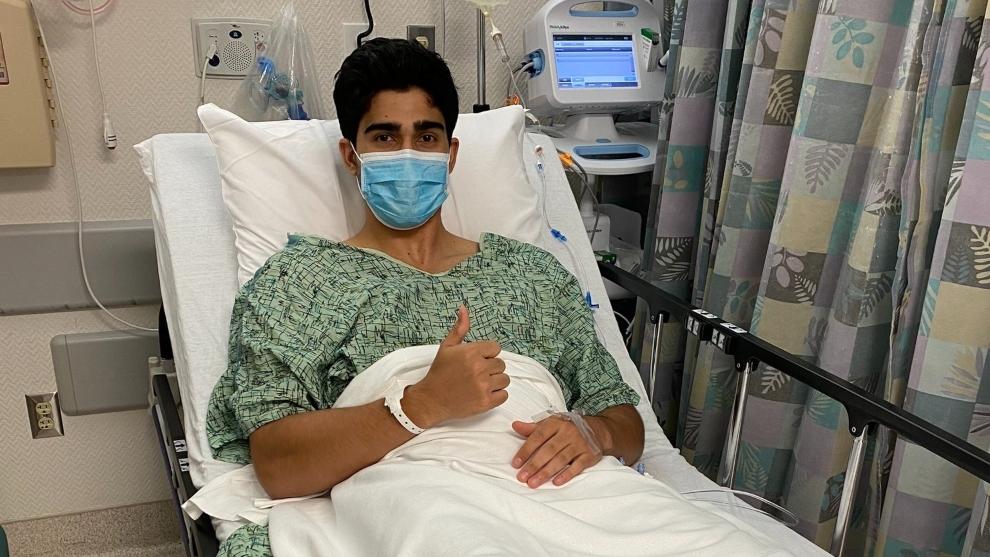 Juan Manuel Correa tras su vigésima operación.