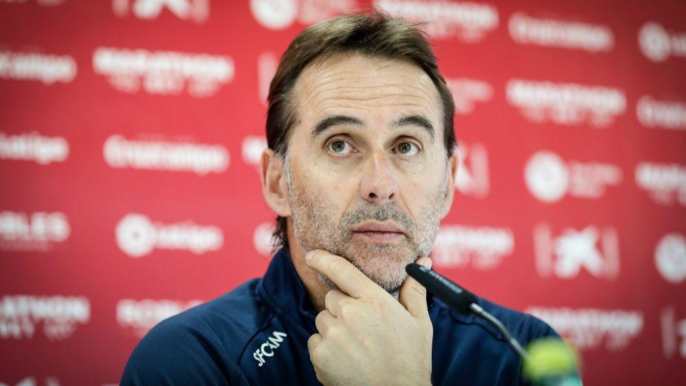 El técnico Julen Lopetegui (54), en sala de prensa.